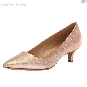 Brand New Pippa pump heel, Rose Gold leather, Wide